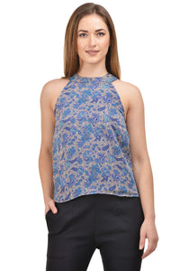 Castle Multicoloured Printed Georgette Crop Top - Castle Lifestyle