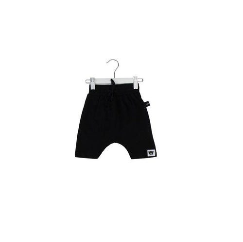Huxbaby black drop crotch shorts