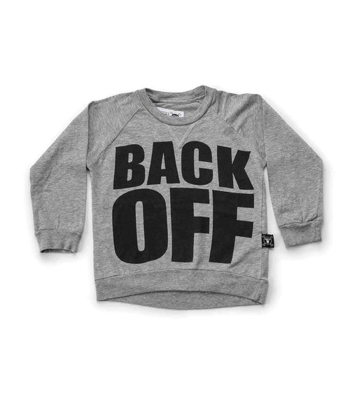 NUNUNU Back Off T-Shirt | Heather Grey-BubandBoo
