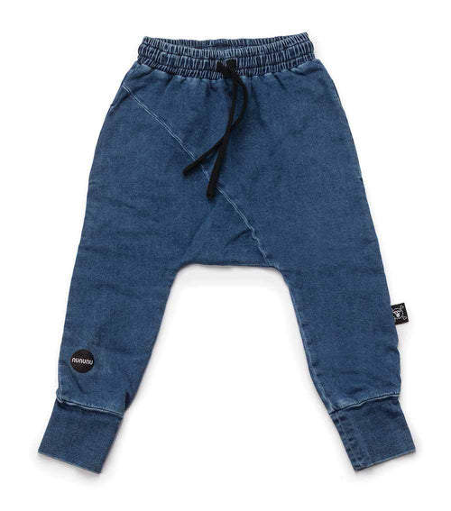 NUNUNU Baggy Pants | Denim | Diagonal-BubandBoo