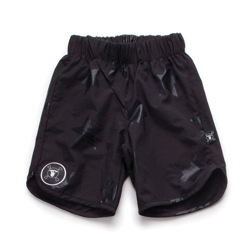NUNUNU Black Star Surf Shorts
