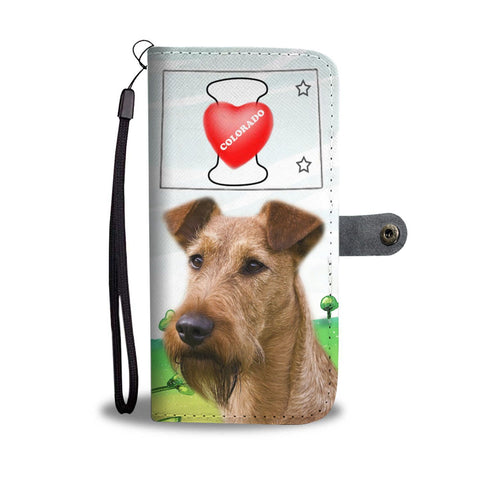 Irish Terrier Print Wallet Case-Free Shipping-CO State