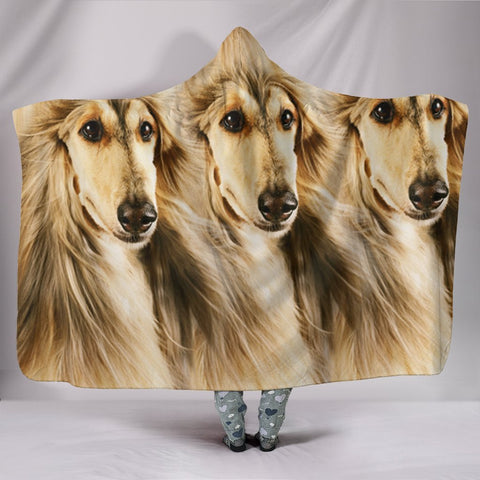 Amazing Afghan Hound Dog Print Hooded Blanket-Free Shipping