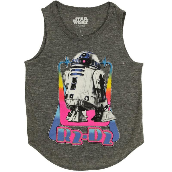 Star Wars R2D2 shirt for girls grey tank top
