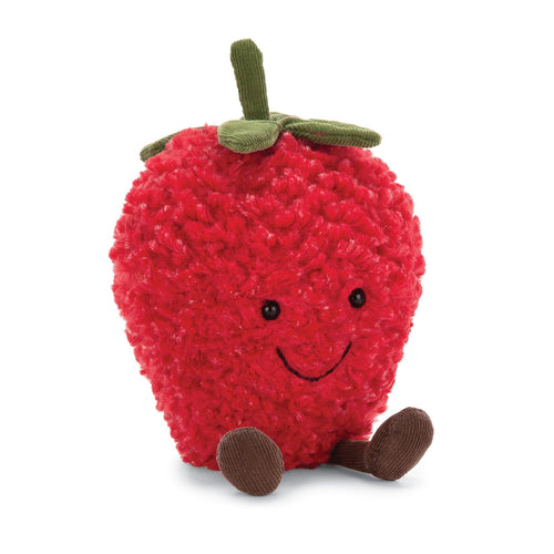 Jellycat strawberry stuffed toy red