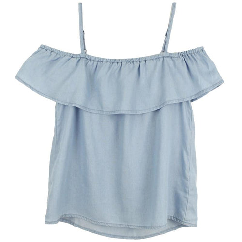 Tencel off shoulder summer top for girls