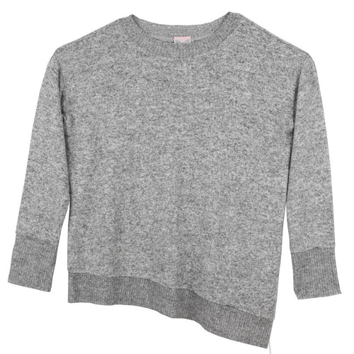Tween girl grey long sleeve top