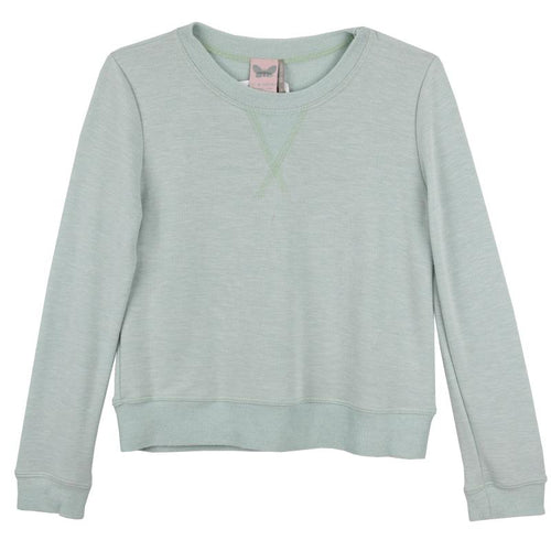 Mint long sleeve tween girls top