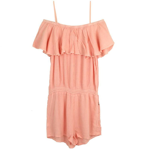 T2LOVE tween girl peach ruffle romper jumpsuit