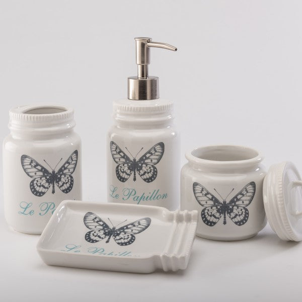 Set De Baño Buterfly - Blanco