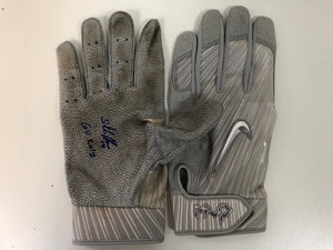 Starlin Castro Game Used Yankees Batting Gloves - Celebz Direct