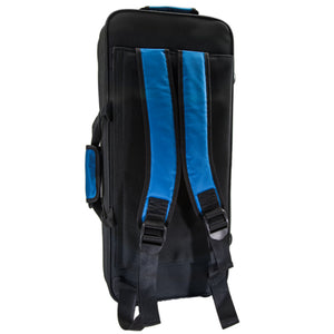 Paititi Lightweight Trumpet Case, Strong, Durable with Backpack Straps Black/Blue