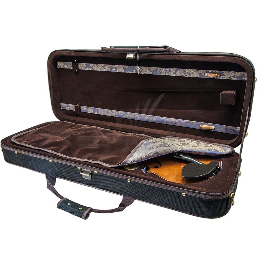 SKY QF28 Oblong Premium Viola Case with Hygrometer Black/Brown