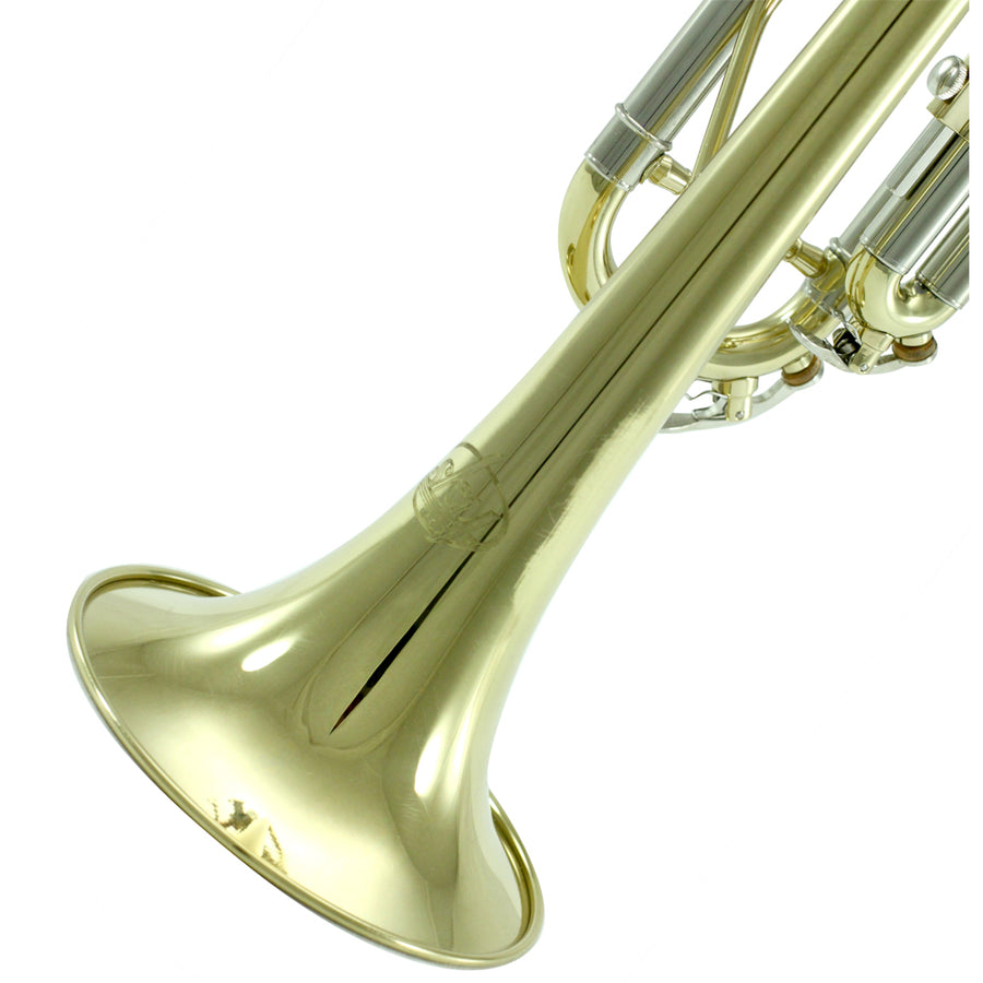Sky Band Approved Gold Lacquer Plated Brass Bb Trumpet Guarantee Top Quality Sound
