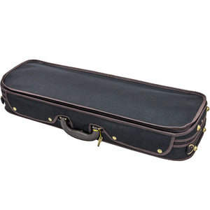 Sky Violin Oblong Case VNCW03 Solid Wood with Hygrometers Black/Burgundy