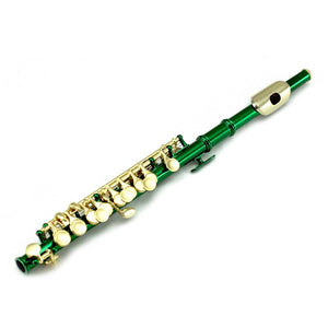 Sky(Paititi) Band Approved Green Lacquer Plated Piccolo Key of C Starter Kit