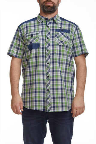 Plaid pocketed shirt