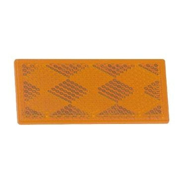 Rectangular Stick-On Reflector - Amber or Red