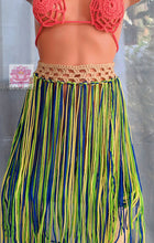 Fringe Boho skirt,Beige crochet skirt beachwear fringe crochet skirt bikini cover up beach cover Brazilian Belly dancing skirt multicolored
