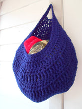 Large Dark Blue laundry bag, Dorm room storage, Kitchen storage, Yarn basket, clothing basket, hanging storage, toys storage, home decor