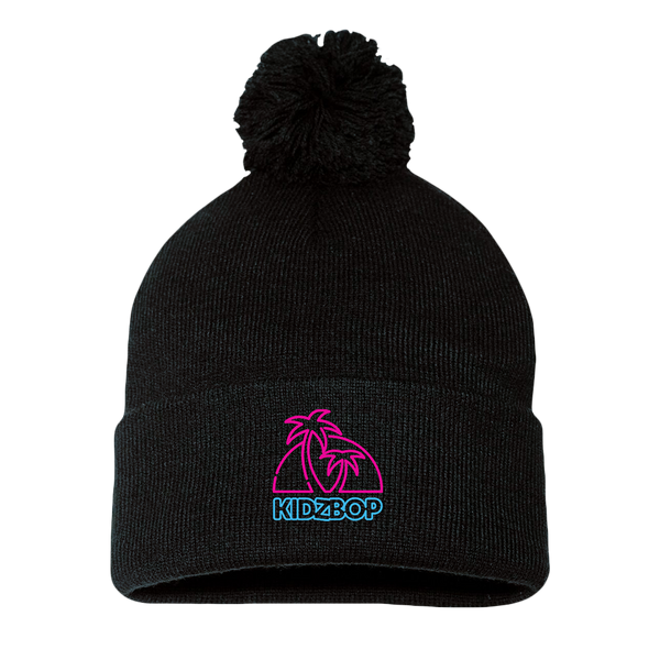 Embroidered Palm Tree Beanie