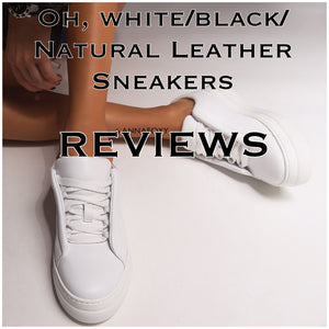 OH, WHITE/BLACK LEATHER SNEAKERS REVIEW ROUNDUP