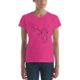 The I HEART MUSIC women's short sleeve t-shirt