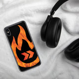 Burn Your Plans clear logo iPhone Case