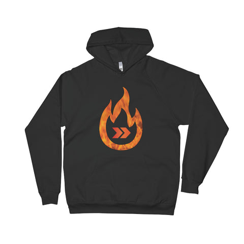 Burn Your Plans clear logo slim-fit hoodie
