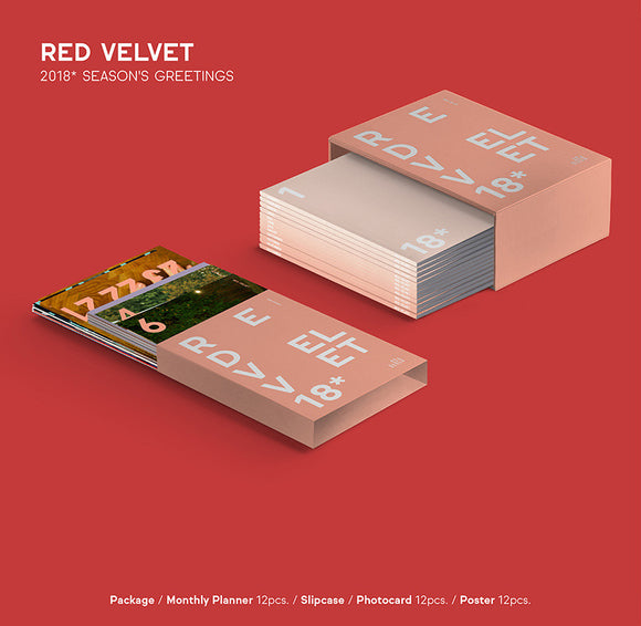 [SALE!!][READY STOCK] RED VELVET 2018 SEASON GREETING (With Special Gift: Mini Banner)