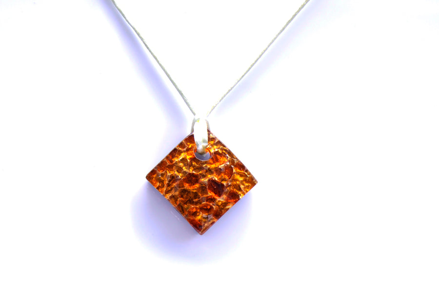 MURANO GLASS NECKLACE AMBER RUMBLE