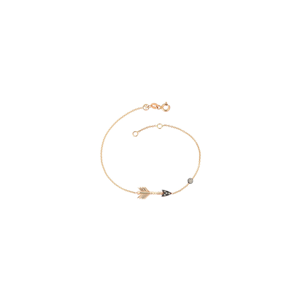 Solitaire Arrow Bracelet - Champagne Diamond
