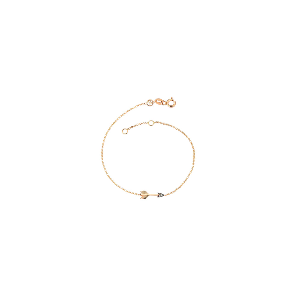 Mini Arrow Bracelet - Champagne Diamond