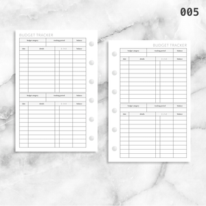 005: Budget Tracker 2PP