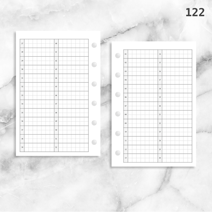 122: 52 Weeks Grid