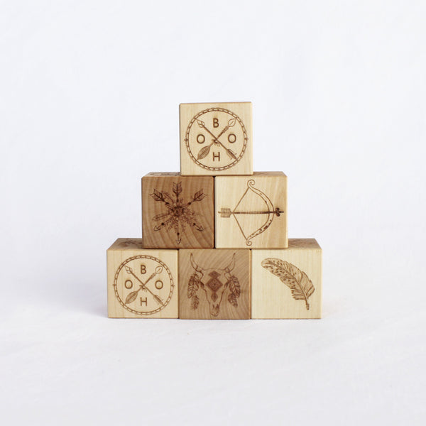 BOHO WOODEN BLOCKS