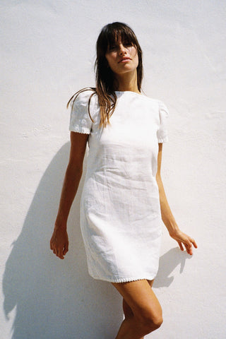 LEE LINEN MINI DRESS