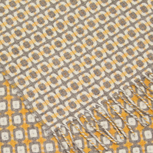 Yellow and grey geometric Geelong scarf
