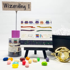 washitape set, collection of 4 rolls, great for Harry Potter fans and Hogwarts school dreamers
