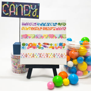candy washi tape, candy assortment, bright colors, west coast planners candy shop event