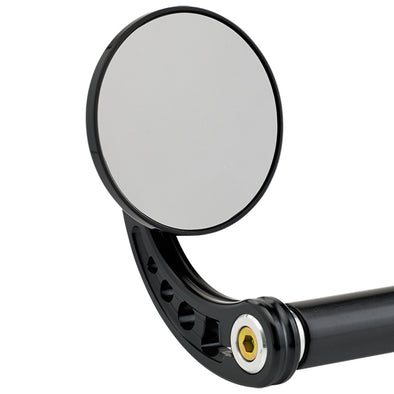 3-1/4 inch Round Bar End Mirrors Stem C Black