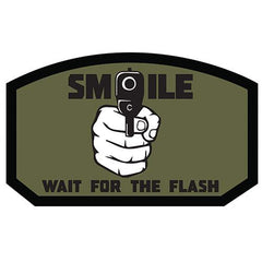 Smile, Wait for the Flash Patch (84P-320) / Morale Patch - Totowa Airsoft