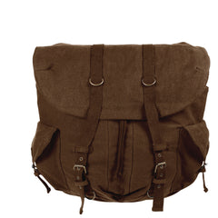 Rothco Vintage Weekender Pack Brown (9658) / Bagpacks - Iceberg Army Navy