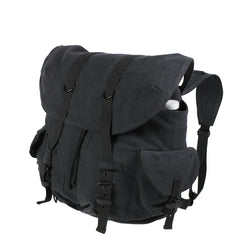Rothco Vintage Weekender Pack Black (9658) / Bagpacks - Iceberg Army Navy