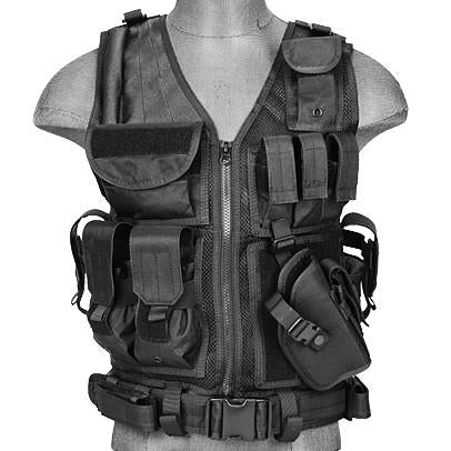 Black G2 Cross Draw Tactical Vest (TACVEST1) / Tactical Vest - Iceberg Army Navy