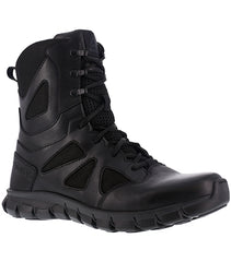 "Reebok Men's 8"" Waterproof Feather Tactical Boot with Side Zipper (RB8806) / Tactical Boots - Iceberg Army Navy"