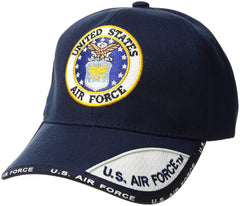US Air Force Emblem Embroidered Ball Cap Navy (78-438)