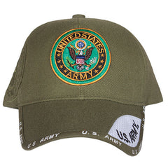 US Army Emblem Embroidered Ball Cap Olive Drab (78-433)