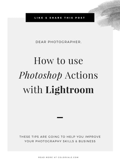How to use Photoshop Actions with Lightroom