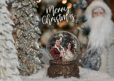 Snow Globe Holiday Template by Colorvale